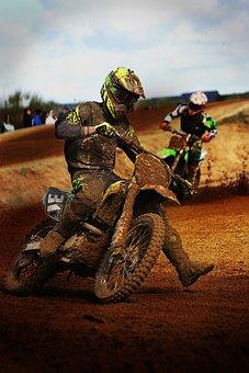 Motocross, Moto, Field, Mud, Sport, Motorcycle, Speed