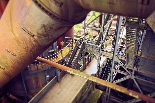Architecture, Steel Mill, Factory Building, Old