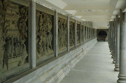Zhoushan, Putuo, Temple, Corridor
