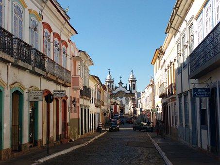 Historic City, Street, São João Del Rey, Minas, Tourism