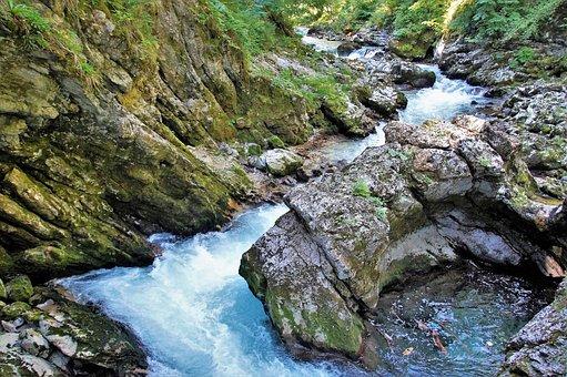 The Vintgar Gorge, Vintgar, Defile, Julian Alps