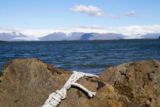 Iceland, Sea, Rock, Nature, Beach, Volcanic Rock, Blue
