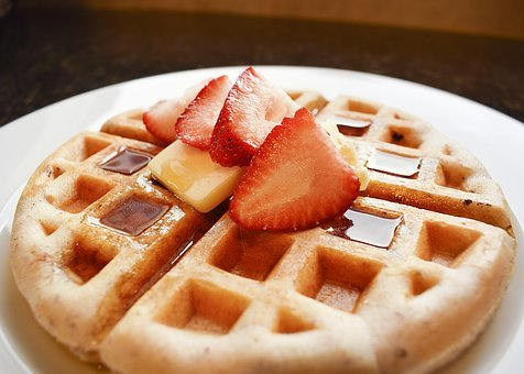Waffle, Waffles, Strawberry, Strawberries, Butter, Diet