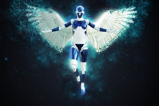 Angel, Robot, Female, Character, Cyborg, Robotic, Cyber