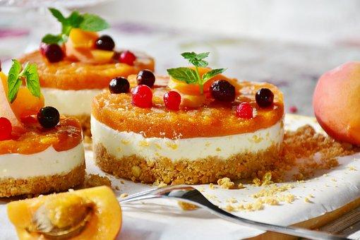 Quark Tart, Apricots, Fruits, Cake, Quark, Berries