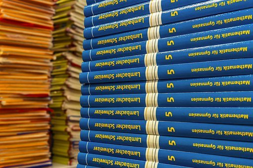 Math, Mathematics, Books, Book Stack, Back To School