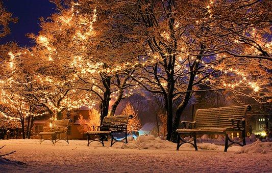 Bank, Christmas, Light, Christmasbackground