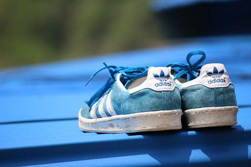 Blue, Adidas, Shoes
