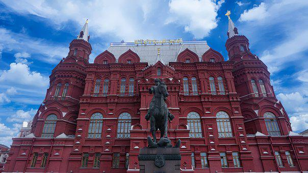 Red, Horse, Moscow, City, Culture, Building, Russia