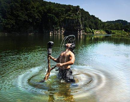 Performance, Calligraphy, Underwater