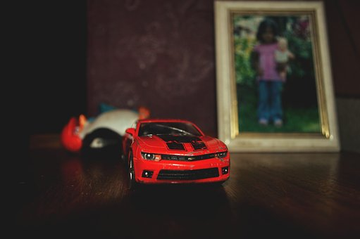 Car, Red, Ferrari, Miniature, Camera, Nikon