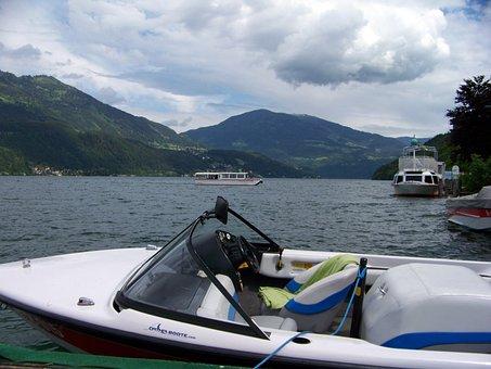 Boats, Carinthia, Austria, Millstatt, Port Motifs