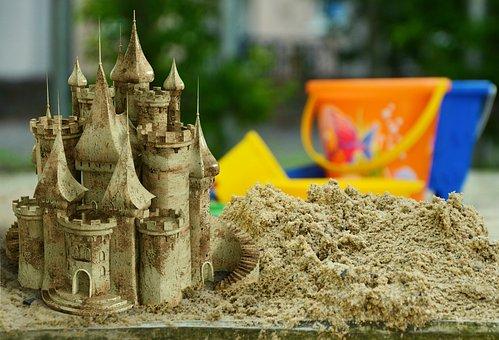Sand, Sand Pit, Sandburg, Child, Playground, Creativity
