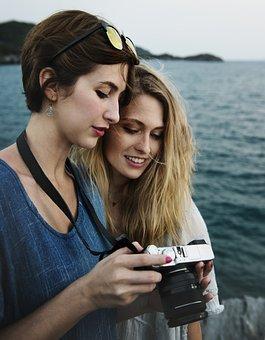 Camera, Casual, Cheerful, Chill, Destination