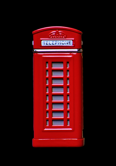 Phone Booth, England, Red