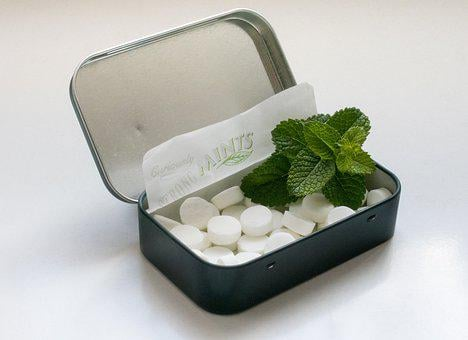 Candies, Mint, Menthol, Foliage, Box, Expanded, Chill