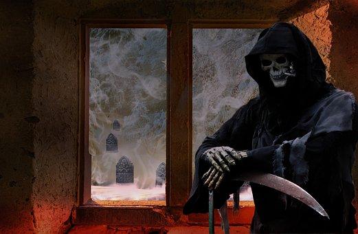 Fantasy, Composing, Creepy, Grim Reaper, Tombstone