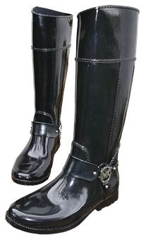 Rubber Boots, Women Boots, Black, Boots, Fashionable