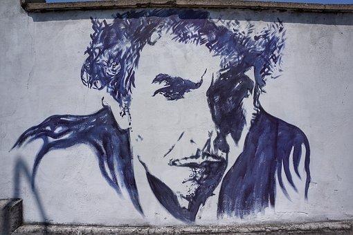 Bob Dylan, Street, Art, Graffiti, Verona, Italy