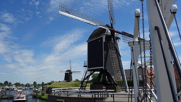 Mill, Netherlands, Historic Mill, Dutch Landscape