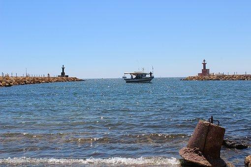 Tunisia, Sea, Holidays, Rowboat