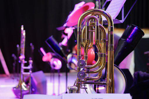 Trombone, Stage, Concert, Big Band, Jazz, Music, Band