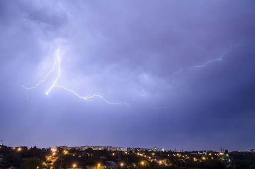 Thunderstorm, Lightning, Clouds, Night, Storm, Flash