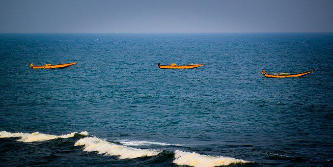 Ocean, Sea, Water, Ocean Water, Indian Ocean, Boats