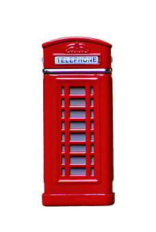 Phone Booth, England, Red, Cropping, Exemption