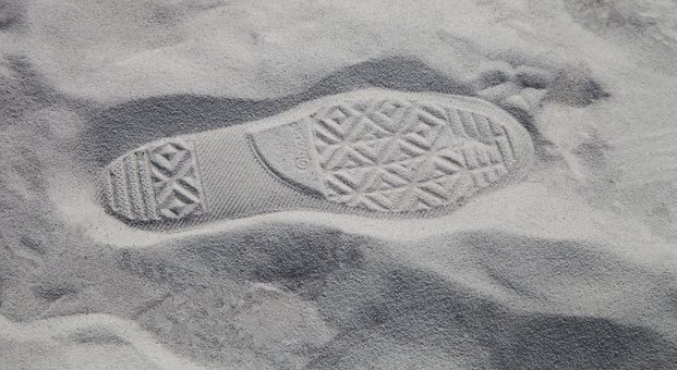 Sand, Footprint, Foot Step, Footprints, Beach, Print