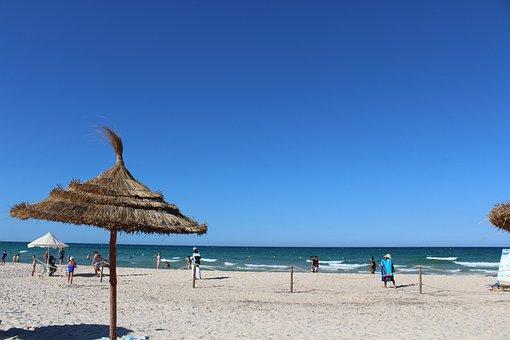 Tunisia, Beach, Sand, Holidays, Sea, Sun