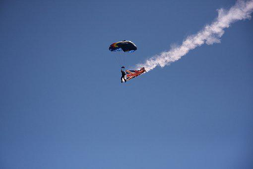 Parachute, Skydiving, Blue Sky