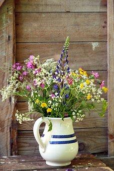 Wild Flower, Corsage, Kukkavaasi, Summer Flower, Jug