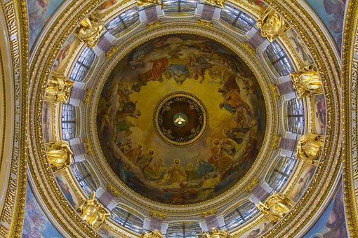 Kazan Cathedral, Church, Fresco, Temple, Architecture