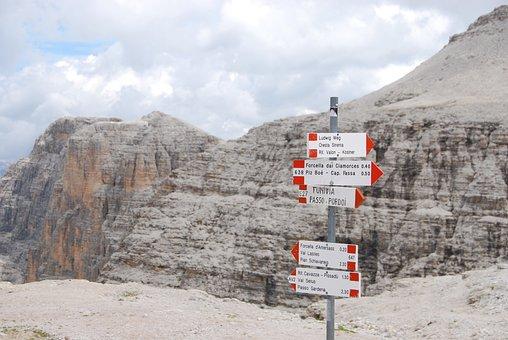 Mountain, Rock, Dolomites, Trentino, Pordoi Pass