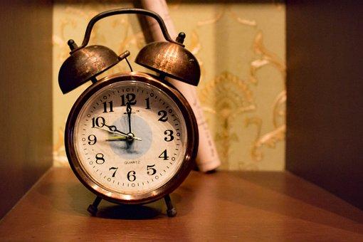 Watch, Old, Alarm Clock, Wood