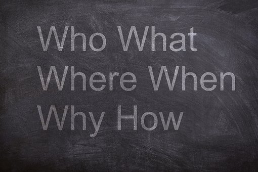 Who, What, Where, When, Why, How, Chalk Board, Chalk