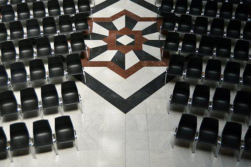 Chair, Row, Empty, Seat, Presentation, Audience