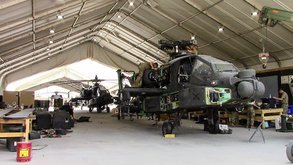 Ah-64e Maintenance, Maintaining, Helicopter, Aviation