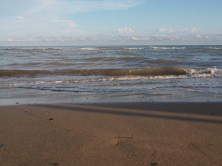 Sea, Wave, Beach, Water, Spray, Surf, Nature, Blue