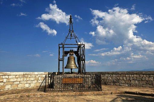 Bell, Bell Tower, Bronze Bell, Ring, Metal, Masonry