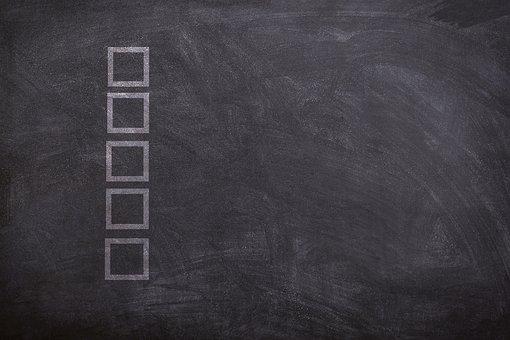 Checklist, Chalk Board, List, Chalkboard, Checkbox
