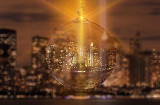 New York City, Christmas Ornament, Christmas, Abstract