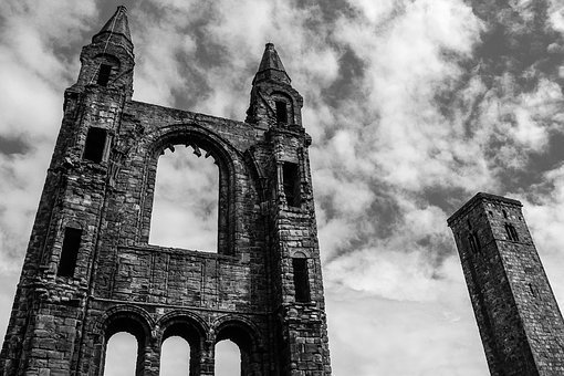 St Andrews, Cathedral, Church, St, Landmark