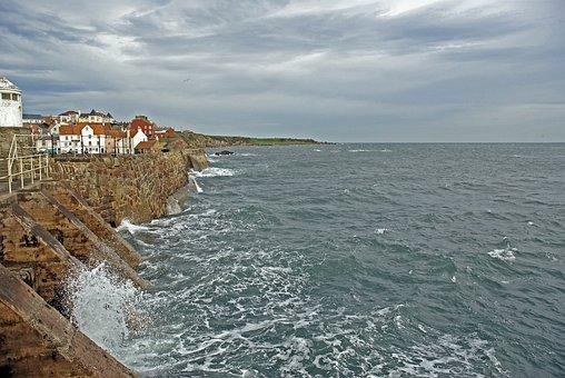 Coast, Scotland, Sea, Ocean, Beach, Rocks, Scottish
