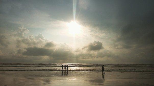 Sunset, Sea Beach, Cox'sbazar, Beach Sunset, Colorful