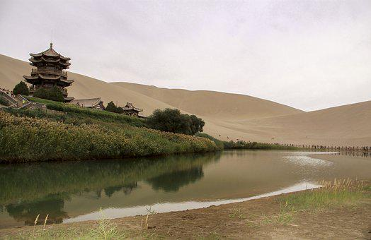 China, Gansu Province, Dunhuang, Crescent Lake