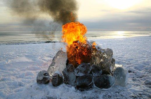 Koster, Fire, Spark, Flame, Coals, Firewood, Burns