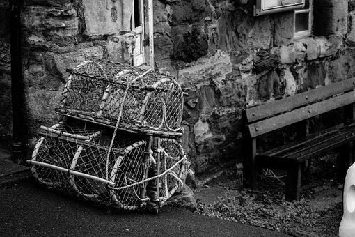 Crab Baskets, Scotland, Fishing, Lobster, Sea, Fish