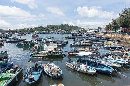 Cheung Chau, Hong Kong, Fishing Village, Fishing, Boats